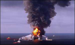 Deepwater Horizon in fiamme